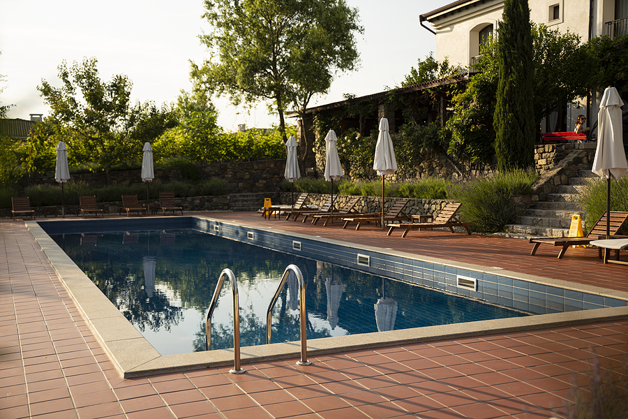 Outdoor swimming pool made by pool builders in Tweed Heads